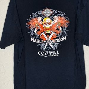 Harley Davidson Cozumel Skull Knives Black T-Shirt